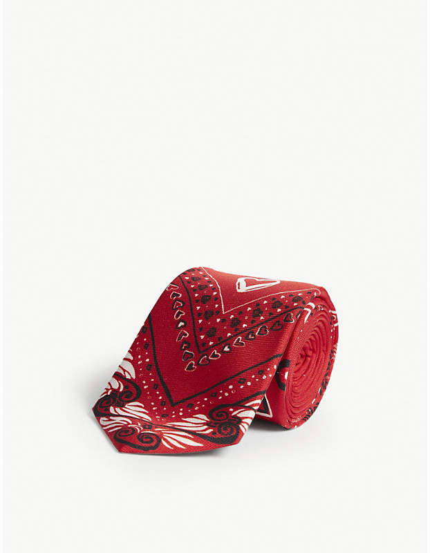 5d67251c Love heart silk tie