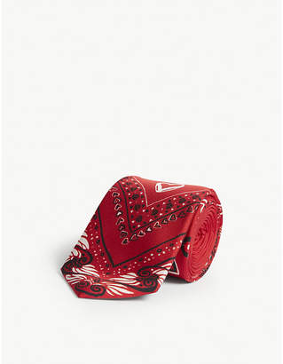 Versace Love heart silk tie