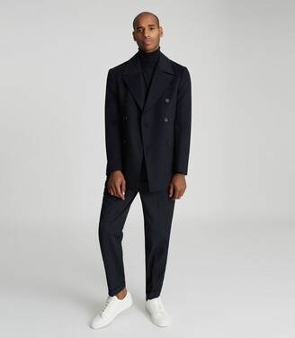 Reiss Giovanni - Wool-blend Peacoat in Navy