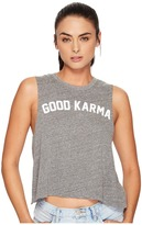 Spiritual Gangster Good Karma Arch Crop Tank Top Women's Workout