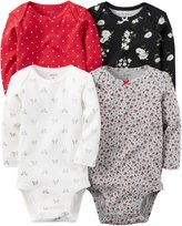 Carter's Baby Girls Multi-Pk Bodysuits 126g458, Assorted, NB