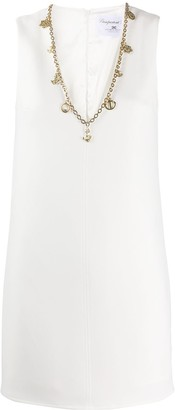 Elisabetta Franchi chain trim V-neck shift dress