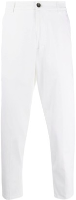 Low Brand High-Rise Tapered Chino Trousers