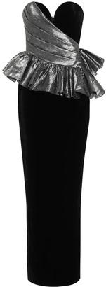 Rasario Bustier velvet gown