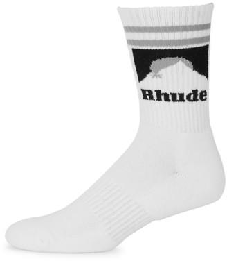 Rhude Mountain Logo Crew Socks
