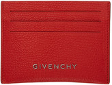 Givenchy Red Pandora Card Holder