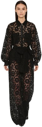 Valentino Long Viscose Lace Jumpsuit