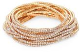 ABS by Allen Schwartz Out Last Night Pavé Crystal Stretch Bracelets/Set of 20