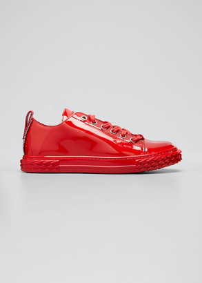 Giuseppe Zanotti Men's Blabber Tonal Patent Leather Sneakers