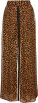 Dundas Cheetah-Printed Silk Trousers