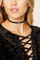 Forever 21 FOREVER 21+ Faux Suede Star Pendant Choker