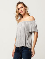 Hip Solid Womens Off The Shoulder Top