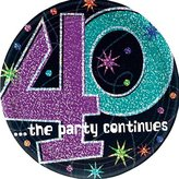 Amscan The Party Continues 40th Birthday Cake Plates