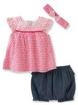 Absorba Baby's Three-Piece Top, Shorts & Headband Set