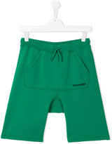 DSQUARED2 drawstring shorts - kids - Cotton - 14 yrs