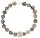 Simon Sebbag Faceted Fossil Coral Necklace