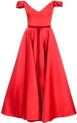 Marchesa Notte Satin Corset Dress