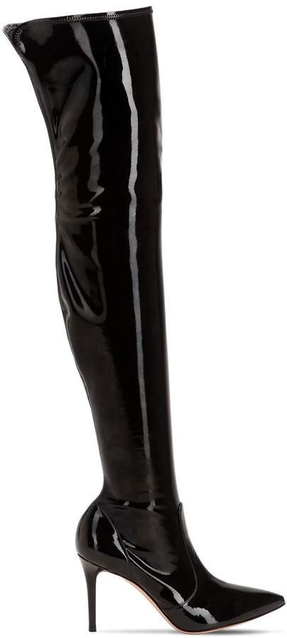 Gianvito Rossi 85mm Stretch Vinyl Boots