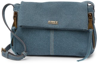 Aimee Kestenberg Bali Double Entry Leather Crossbody Bag