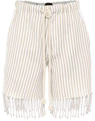 Loewe x Paula's Ibiza striped cotton shorts