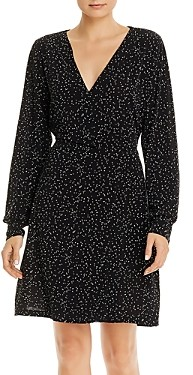 Vero Moda Printed Faux-Wrap Dress