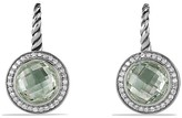David Yurman Color Classics Drop Earrings with Prasiolite and Diamonds