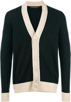 Alexander McQueen v-neck cardigan - men - Cotton/Wool - XL