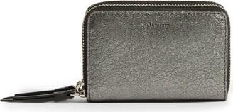 AllSaints Miki Metallic Leather Card Holder