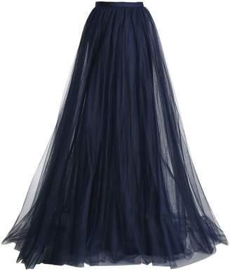 Jenny Packham Flared Tulle Maxi Skirt