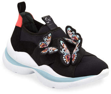 Sophia Webster Riva Butterfly Slip-On Sneakers