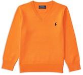 Ralph Lauren Boys' Long-Staple Cotton V-Neck Sweater - Sizes 2-7
