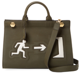 Anya Hindmarch Ephson Exit In The Dark Leather Top Handle Satchel