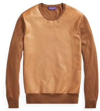 Ralph Lauren Leather-Panel Cashmere Jumper