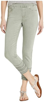 Tribal Pull-On Ankle Jeggings w/ Embroidery at Hem in Jungle (Jungle) Women's Jeans