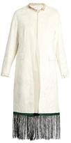 Toga Fringe-trimmed velvet coat