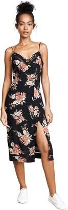 MinkPink Women's WallFlower Floral Print Split Slip Dress