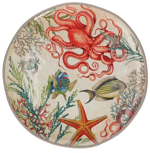 Rose & Tulipani - Sea Life Round Platter