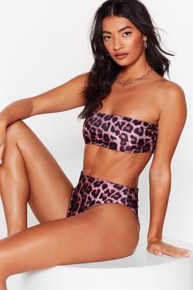 Nasty Gal Womens Stalking the Sun Leopard Bikini Top - Mauve