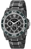 Breil Milano Men's Quartz Watch with Black Dial Analogue Display and Black PU Bracelet TW0994