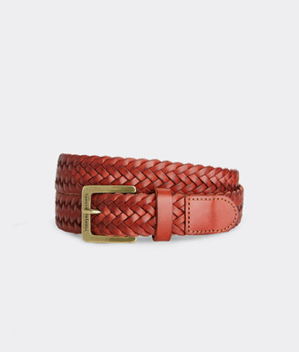 Vineyard Vines Braided Leather Belt