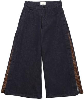 Fendi Flared Stretch Cotton Denim Jeans
