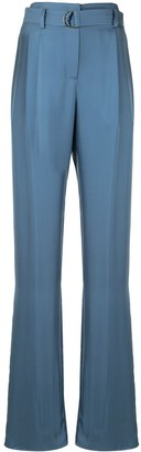 Sally LaPointe Silky Twill Belted Trousers