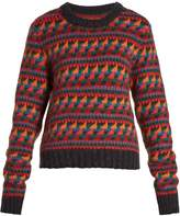Burberry Geometric-intarsia- wool-blend sweater