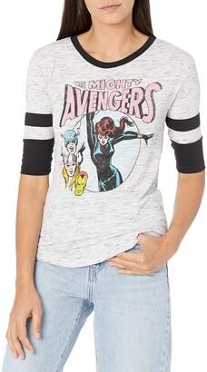 Marvel Junior's Universe Retro Avengers Women's Flowy Hockey Tee