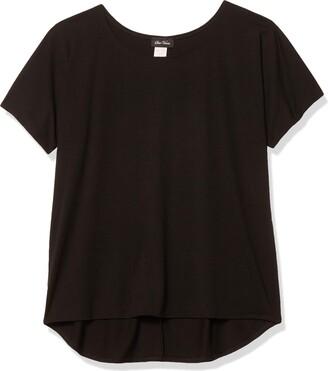 Star Vixen Women's Plus-Size Dolman SLV Hi-Low Hem Easy-Wear Brushed Knit Top