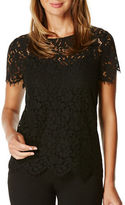 Rafaella Scallop Edged Lace Top