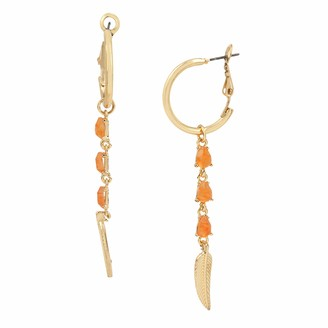 Jessica Simpson Feather Stone Linear Earrings