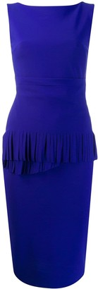 Fringed Detail Fitted Dress