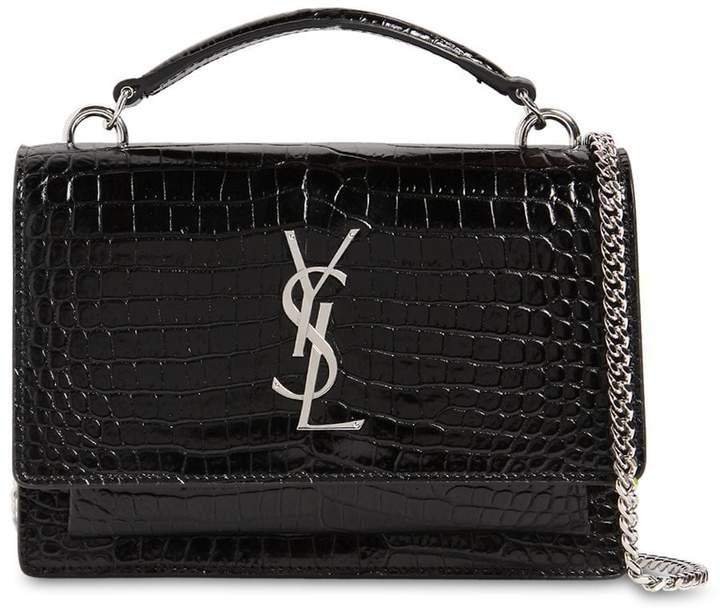38e2d491e4e Saint Laurent Croc Embossed Leather Bags For Women - ShopStyle Australia