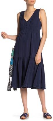 Lucky Brand Sleeveless Gauze Midi Dress